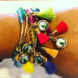 7 bracelets, St.  Jude Medals